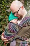 Baby Wrap, Jacquard Weave (100% cotton) - COLORS OF RAIN - size M (grade B)