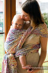 Baby Wrap, Jacquard Weave (100% cotton) - COLORS OF LIFE, size S (grade B)