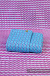 Baby Wrap, Jacquard Weave (100% cotton) - ZigZag Turquoise & Pink  - size L (grade B)