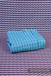 Baby Wrap, Jacquard Weave (100% cotton) - ZigZag Turquoise & Purple  - size L (grade B)