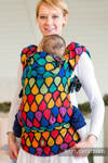 Ergonomic Carrier, Baby Size, jacquard weave 100% cotton - JOYFUL TIME, Second Generation (grade B)
