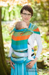 WRAP-TAI carrier Toddler, broken-twill weave - 100% cotton - with hood, ORANGE TREE
