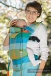 Nosidełko Ergonomiczne z tkaniny skośnokrzyżowej 100% bawełna , Baby Size, DRZEWO POMARAŃCZOWE - Druga Generacja