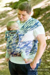 WRAP-TAI carrier Mini with hood/ jacquard twill / 100% cotton / BLUE CAMO