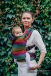 Ergonomic Carrier, Toddler Size, herringbone weave 100% cotton - LITTLE HERRINGBONE IMAGINATION DARK- Second Generation