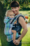 Ergonomic Carrier, Baby Size, herringbone weave 100% cotton - wrap conversion from LITTLE HERRINGBONE PETREA- Second Generation
