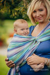 Baby Wrap, Herringbone Weave (100% cotton) - LITTLE HERRINGBONE PETREA - size M