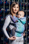 Ergonomic Carrier, Toddler Size, jacquard weave 100% cotton - wrap conversion from MOSAIC - AURORA - Second Generation