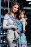 Żakardowa chusta do noszenia dzieci, bawełna - MOZAIKA - AURORA - rozmiar XS