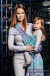 Żakardowa chusta do noszenia dzieci, bawełna - MOZAIKA - AURORA - rozmiar M