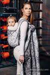 Baby Wrap, Jacquard Weave (100% cotton) - MOSAIC - MONOCHROME - size XS
