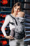 Ergonomic Carrier, Baby Size, jacquard weave 100% cotton - wrap conversion from MOSAIC - MONOCHROME - Second Generation