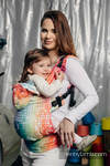 Ergonomic Carrier, Baby Size, jacquard weave 100% cotton - MOSAIC - RAINBOW - Second Generation