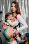 Ergonomic Carrier, Toddler Size, jacquard weave 100% cotton - MOSAIC - RAINBOW - Second Generation