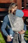 Żakardowa chusta do noszenia dzieci, bawełna - PANORAMA - rozmiar XS