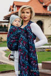 Baby Wrap, Jacquard Weave (100% cotton) - BUTTERFLY WINGS at NIGHT - size XS