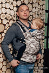 Ergonomic Carrier, Toddler Size, jacquard weave 100% cotton - BEIGE CAMO - Second Generation