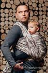 Żakardowa chusta do noszenia dzieci, bawełna - BEŻOWE MORO - rozmiar S