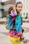 Żakardowa chusta do noszenia dzieci, bawełna - SYMFONIA TĘCZOWA DARK - rozmiar XL