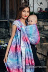 Baby Wrap, Jacquard Weave (100% cotton) - CITY OF LOVE - size S (grade B)