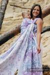 Baby Wrap, Jacquard Weave (60% cotton, 40% linen) - DRAGONFLY LAVENDER - size XL