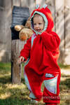 Bear Romper - size 68 - red with Little Herringbone Impression