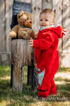Bear Romper - size 74 - red with Little Herringbone Impression
