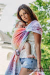 Baby Wrap, Jacquard Weave (100% cotton) - SYMPHONY RAINBOW LIGHT - size XS