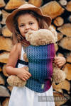 Doll Carrier made of woven fabric (100% cotton) - LITTLE LOVE - RAINBOW DARK
