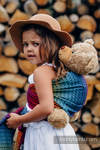 Doll Sling, Jacquard Weave, 100% cotton - LITTLE LOVE - RAINBOW DARK