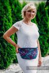 Saszetka z tkaniny chustowej, rozmiar large (100% bawełna) - SKRZYDŁA MOTYLA NOCĄ