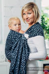 Basic Line Ring Sling - KYANITE - 100% Cotton - Jacquard Weave -  with gathered shoulder