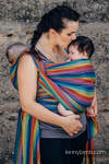 Baby Sling, Broken Twill Weave (bamboo + cotton) - Paradiso - size XS (grade B)