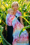 RingSling, Jacquardwebung (100% Baumwolle) - SWALLOWS RAINBOW LIGHT  - long 2.1m