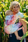 WRAP-TAI carrier Toddler with hood/ jacquard twill / 100% cotton / SWALLOWS RAINBOW LIGHT