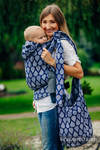 Hobo Bag made of woven fabric, 100% cotton - JOYFUL TIME TOGETHER