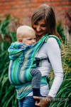 Ergonomic Carrier, Baby Size, herringbone weave 100% cotton - LITTLE HERRINGBONE AMAZONIA - Second Generation