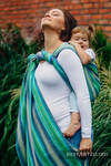 Baby Wrap, Herringbone Weave (100% cotton) - LITTLE HERRINGBONE AMAZONIA - size M
