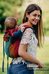 Lenny Buckle Onbuhimo baby carrier, toddler size, jacquard weave (100% cotton) - BIG LOVE RAINBOW DARK