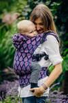 Nosidełko Ergonomiczne z tkaniny żakardowej 100% bawełna , Baby Size, RADOSNY CZAS Z TOBĄ - Druga Generacja