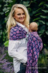Ringsling, Jacquard Weave (100% cotton) - with gathered shoulder - JOYFUL TIME WITH YOU  - long 2.1m