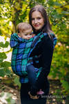Ergonomic Carrier, Baby Size, twill weave 100% cotton - COUNTRYSIDE PLAID - Second Generation.