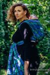 Chusta do noszenia dzieci, tkana splotem skośnym (100% bawełna) - SIELSKA KRATA - rozmiar M (drugi gatunek)