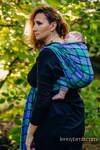 Chusta do noszenia dzieci, tkana splotem skośnym (100% bawełna) - SIELSKA KRATA - rozmiar L (drugi gatunek)