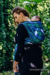 Chusta do noszenia dzieci, tkana splotem skośnym (100% bawełna) - SIELSKA KRATA - rozmiar S