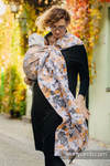 Ringsling, Jacquard Weave (100% cotton) - with gathered shoulder - WHIFF OF AUTUMN - long 2.1m (grade B)