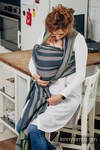 Baby Sling, Broken Twill Weave, 100% cotton,  SMOKY - LIME - size M (grade B)