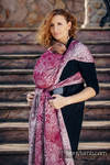 Baby Wrap, Jacquard Weave (100% cotton) - WILD WINE - size XL