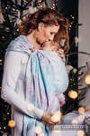 Ringsling, Jacquard Weave (96% cotton, 4% metallised yarn) - with gathered shoulder - GLITTERING SNOW QUEEN  - long 2.1m