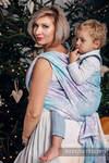 Żakardowa chusta do noszenia dzieci, 96% bawełna, 4% przędza metalizowana - LŚNIĄCA KRÓLOWA ŚNIEGU - rozmiar XL